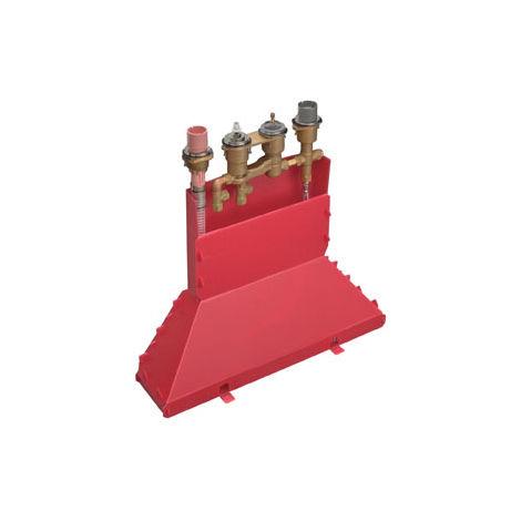 Cuerpo básico Hansgrohe para la colocación de cantos de baldosas de 4 agujeros con termostato - 15465180