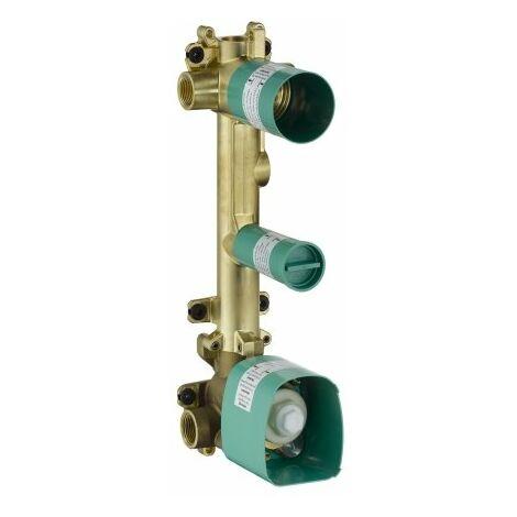 Cuerpo básico Hansgrohe para módulo de termostato empotrado 38 x 12 para 2 consumidores - 36701180