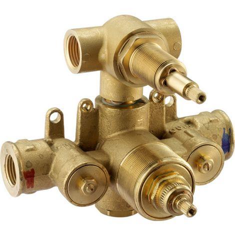 Cuerpo empotrado ducha termostática de 2 salidas Huber ZB01810104 | parte incorporada