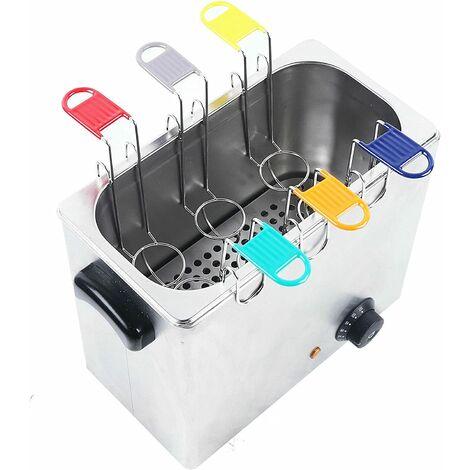 Cuiseur à oeufs - Appareil Vapeur 2600W Cuiseur professionnel en acier inoxydable Réglage de la dureté Verre doseur avec pick pour 6 oeufs Électrique pour cuisine à la maison