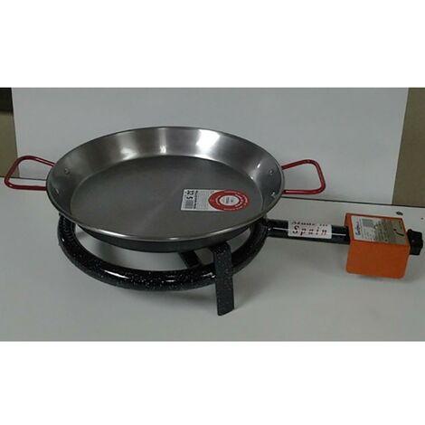 Cuiseur à paella au gaz butane 1 feu 30 cm fer M300 La Ideal