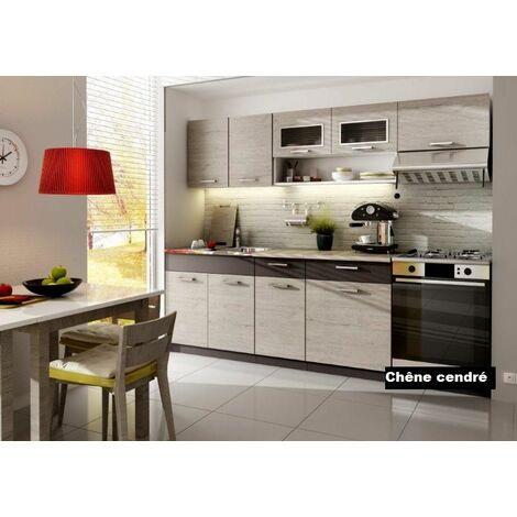 Cuisine complète LIVRAISON GRATUITE - MORENO 2m40 - 7 meubles