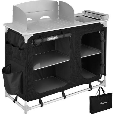 Cuisine de camping avec évier intégré - meuble de rangement cuisine, meuble camping, equipement camping