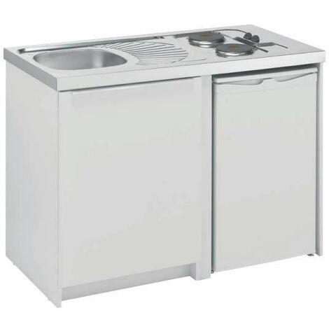 Cuisinette avec plaque et réfrigérateur CADETTE 120cm