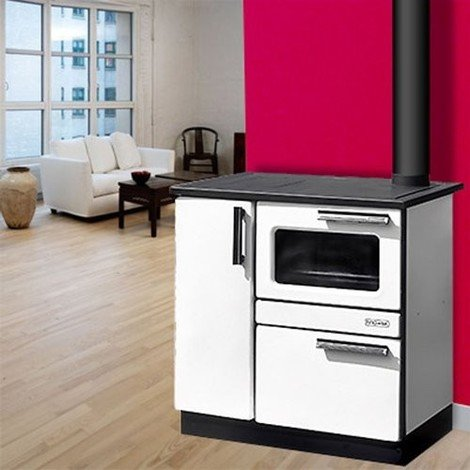 Cuisinière à bois PLAMAK de Purline, large four 9 kW , pour 180 m²