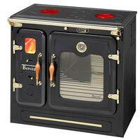 Cuisinière-chaudière à bois à poser ou encastrer en acier 24,2 kw PETRA100CDR