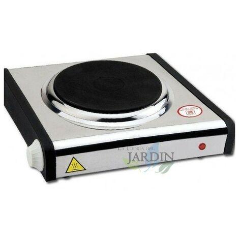 Cuisinière électrique 1 brûleur inox 28x27 cm