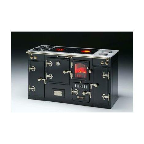revendeur 4ddbc 1f524 Cuisinière mixte bois, gaz et éléctrique à poser ou encastrer en acier 17,4  kw