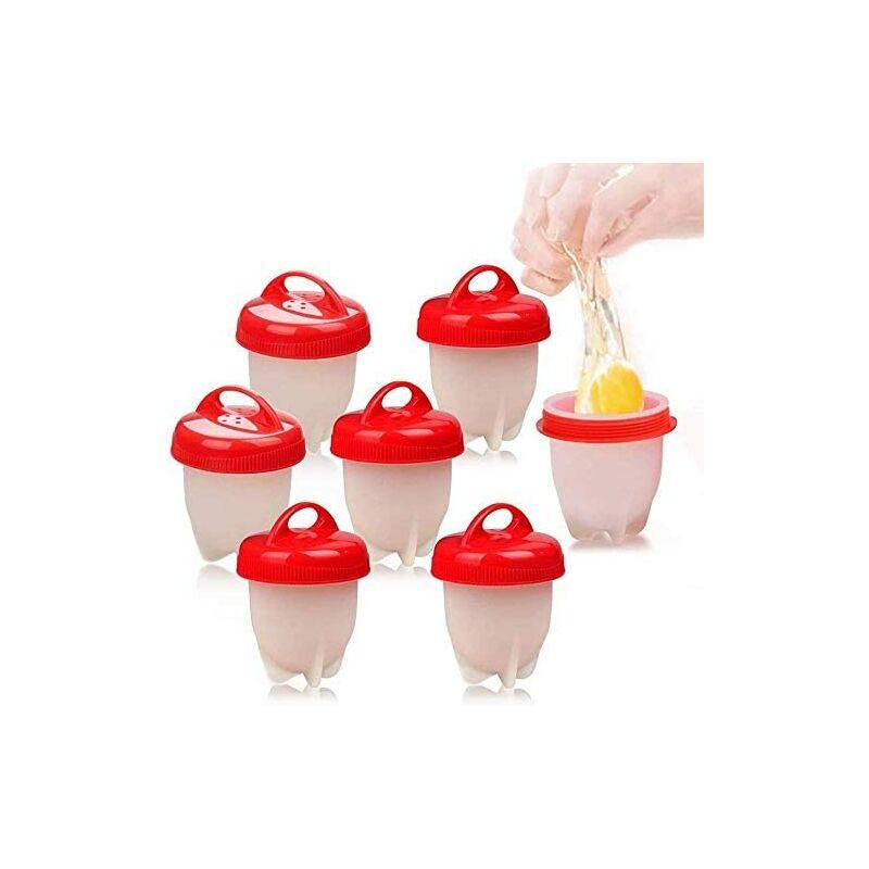 Bares - Cuit Oeufs, 7 Cuit Pocheuse Silicone Oeuf, Easy Eggs Cooker Coquetier Gel de Silice de Qualité Alimentaire sans BPA, Faire Bouillir des Oeufs
