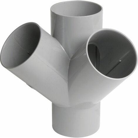Culotte 45° PVC double équerre FDiam100mm Nicoll