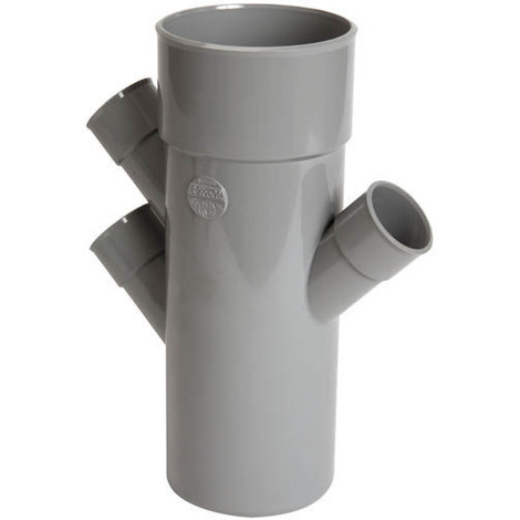 Culotte 45° triple parallele PVC NICOLL Mâle Femelle O100 Femelle O40