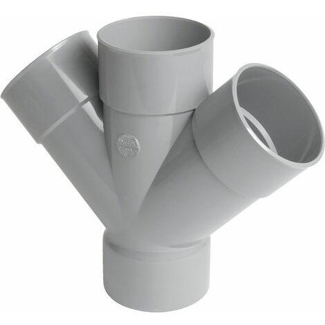 Culotte double 45° PVC parallèle FDiam100mm Nicoll