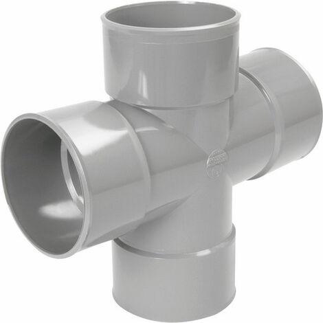 Culotte double 87° PVC parallèle FDiam100mm Nicoll