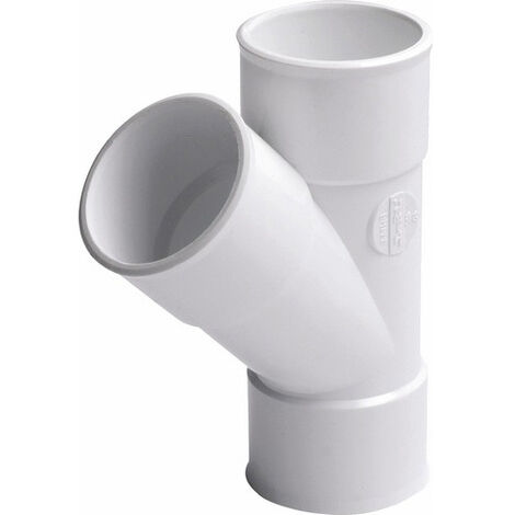 Culotte FF 45° Diam50 PVC Nicoll blanc