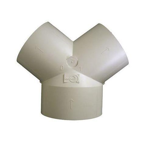 Culotte plastique 3 piquages 80 mm