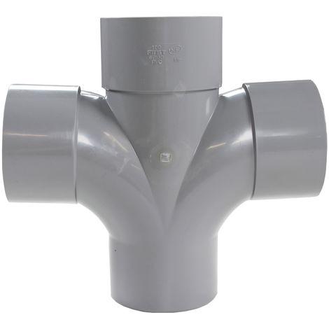 """main image of """"Culotte PVC Double Parallèle 87°30 Mâle Femelle Ø100 FIRST-PLAST"""""""