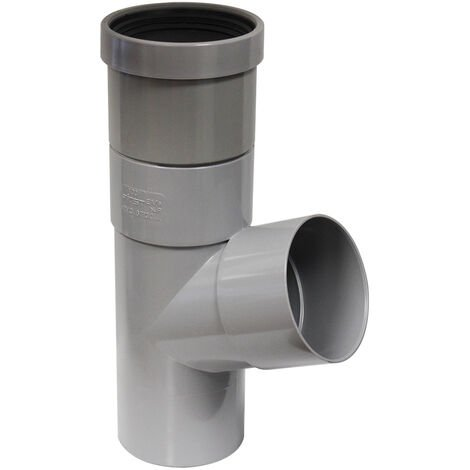 Culotte PVC évacuation à joints de dilatation - Ø100 - Mâle Femelle 67° - First Plast