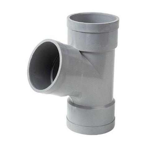 Culotte PVC gris 67°30 - Ø 100 mm - Triple emboîture - Girpi