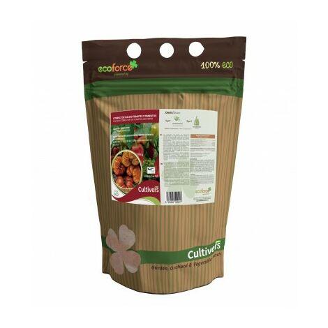 CULTIVERS Abono Calcio para Tomates y Pimientos Ecológico de 1 Kg. Refuerza la Resistencia a Enfermedades