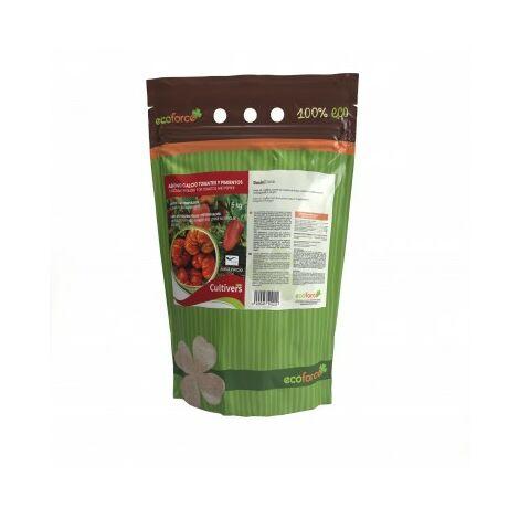 CULTIVERS Abono Calcio para Tomates y Pimientos Ecológico de 5 Kg. Refuerza la Resistencia a Enfermedades