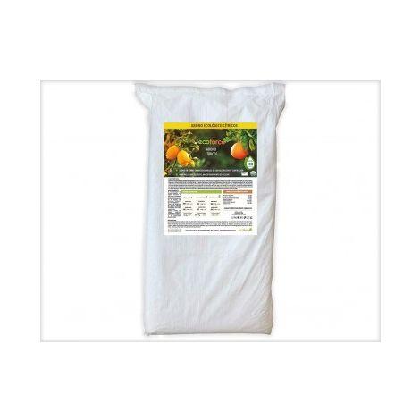 CULTIVERS Abono Ecológico Cítricos de 25 Kg. Especial Fertilizante Origen 100% Orgánico y Natural Microgránulado