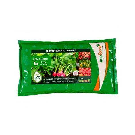 CULTIVERS Abono Ecológico con Guano de 1,5 kg. Fertilizante Universal de Origen 100% Orgánico