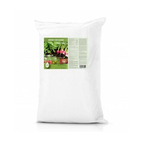 CULTIVERS Abono Ecológico con Guano de 25 kg. Fertilizante Universal de Origen 100% Orgánico