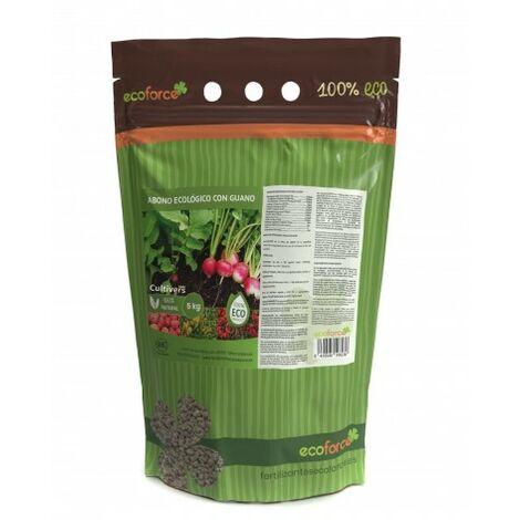 CULTIVERS Abono Ecológico con Guano de 5 kg. Fertilizante Universal de Origen 100% Orgánico