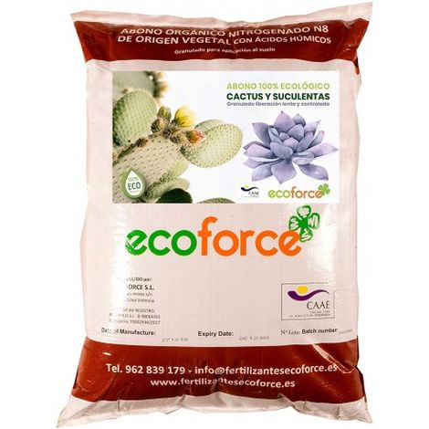 CULTIVERS Abono Especial Cactus y Suculentas 25 kg. Fertilizante ecológico de liberación Lenta y controlada