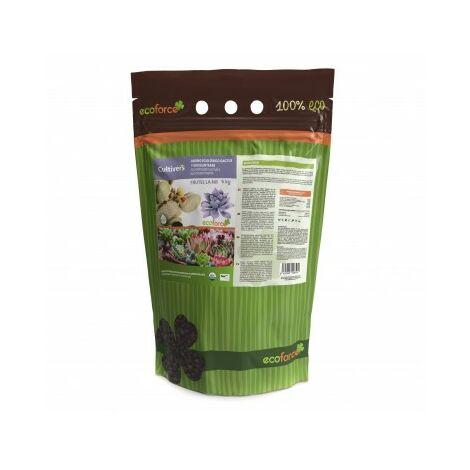 CULTIVERS Abono Especial Cactus y Suculentas de 5 kg. Fertilizante ecológico de liberación Lenta y controlada