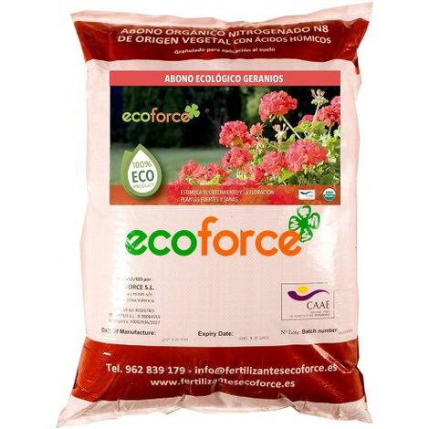 CULTIVERS Abono Especial Geranios y Plantas con Flor de 25 kg