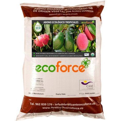 CULTIVERS Abono - Fertilizante ecológico de 25 kg Especial Tropicales para Aguacate, Mango, Litchi, Pitahaya, Papaya y Guayaba
