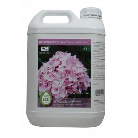 CULTIVERS Fertilizante Ecológico Hortensias Líquido 5 L. Mayor Floración y Intensifica el Color. Plantas sanas y Fuertes
