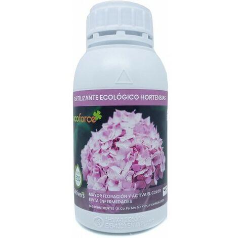 CULTIVERS Fertilizante Ecológico Hortensias Líquido 500 ml. Mayor Floración y Intensifica el Color. Plantas sanas y Fuertes