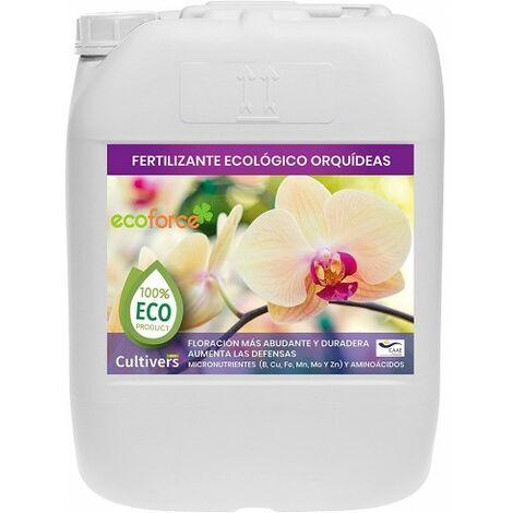 CULTIVERS Fertilizante Ecológico Orquídeas Líquido 20 L. Crecimiento Saludable, Mayor Floración e Intensifica el Color