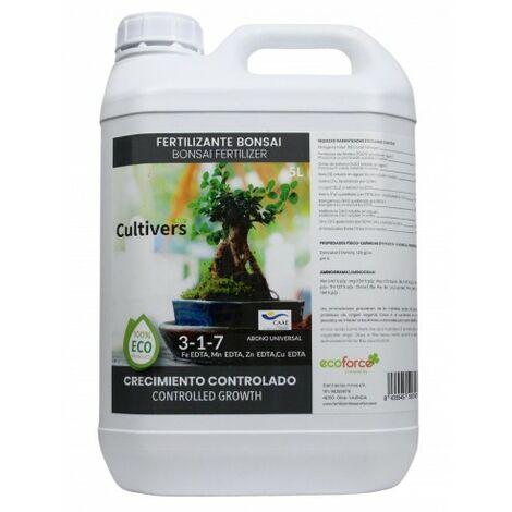 CULTIVERS Fertilizante Ecológico para Bonsái 5 L Líquido con Micronutrientes y Aminoácidos. Abono 100% Orgánico y Natural