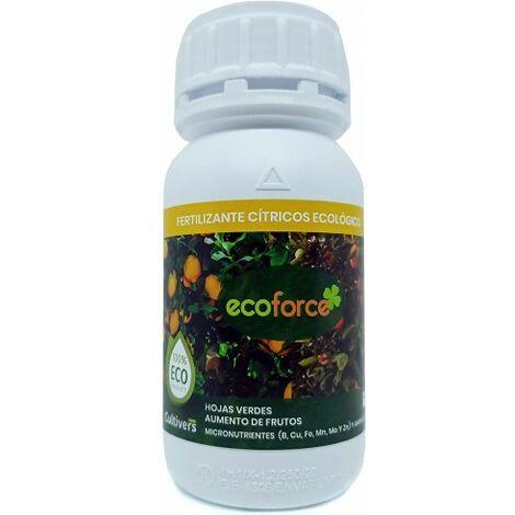 CULTIVERS Fertilizante Ecológico para Cítricos Líquido de 250 ml. Hojas más Verdes y Aumenta del Tamaño Fruto