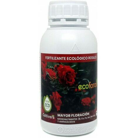 CULTIVERS Fertilizante Ecológico Rosales Líquido de 500 ml. Hojas más Verdes, Mayor Floración e Intensifica el Color