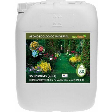 CULTIVERS Fertilizante Ecológico Universal Líquido de 20L. Abono 100% Orgánico y Natural