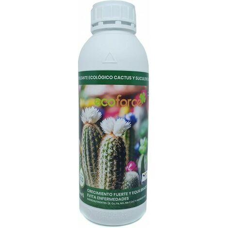 CULTIVERS Fertilizante Liquido Ecológico Cactus y Crasas 1 L. Plantas más Resistente a Enfermedades