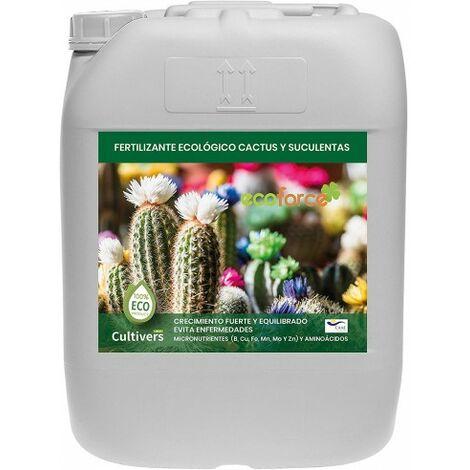 CULTIVERS Fertilizante Liquido Ecológico Cactus y Crasas 20 L. Plantas más Resistente a Enfermedades