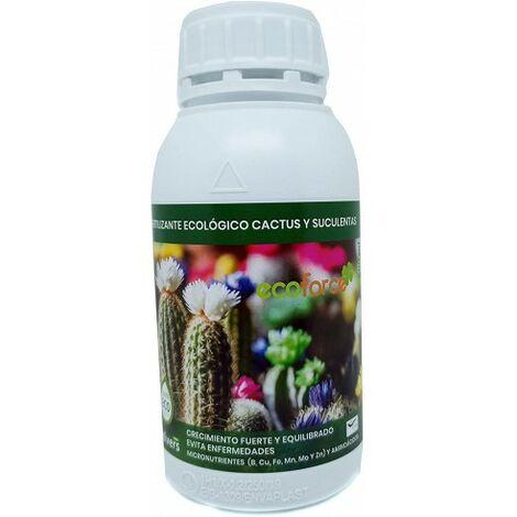 CULTIVERS Fertilizante Liquido Ecológico Cactus y Crasas 500 ml. Plantas más Resistente a Enfermedades