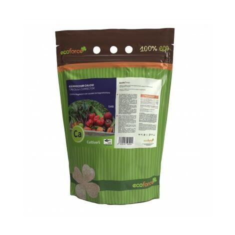 CULTIVERS FORCE-CALCIO ECO 5 Kg. Calcio para Plantas, Árboles, Frutales y Verduras