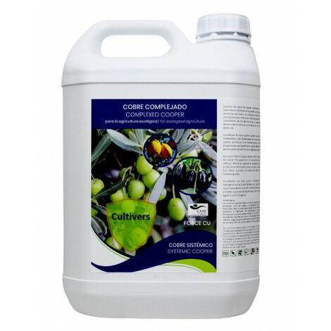 CULTIVERS Force-CU de 5L. Fungicida de Cobre ecologico Que Mejora el Sistema de Defensa de la Planta Que favorecen el Desarrollo