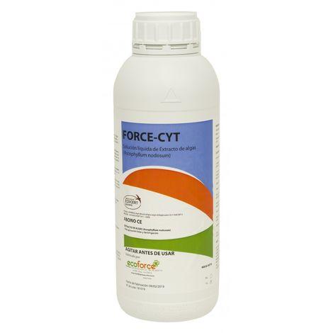 CULTIVERS Force-cyt 1L, bioestimulante a Base de Algas con Alta Actividad citoquinética. Mejora el Crecimiento y la floración