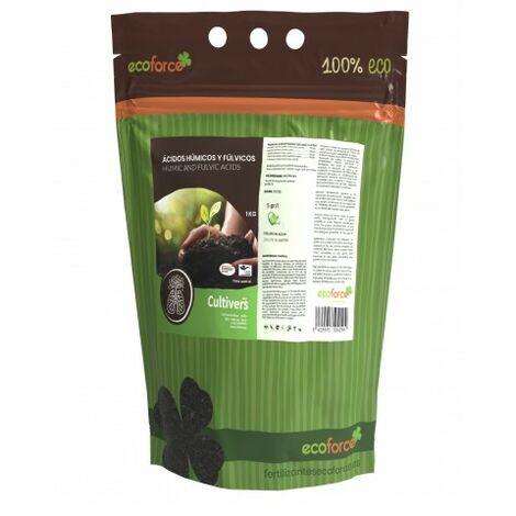 CULTIVERS Force-Humic HD 82 de 1 kg. Solución soluble al 82% de ácidos húmicos y fúlvicos con leonardita