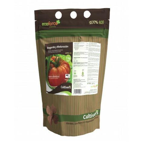 CULTIVERS Force-K Eco de 5 L. Potasa liquida ecologica quelatada al 40% con pH neutro para el engorde y maduración de frutos