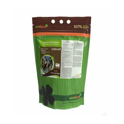 CULTIVERS Force-Mar Eco de 5 kg. Fertilizante ecológico de Algas Ascophyllum Nodosum 100%. Ayudan a la Planta