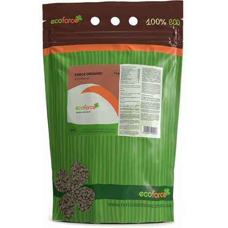 CULTIVERS Force Organic de 5 kg. Abono granulado para Plantas ecológico con NPK (6-7-10) + 50% Materia orgánica