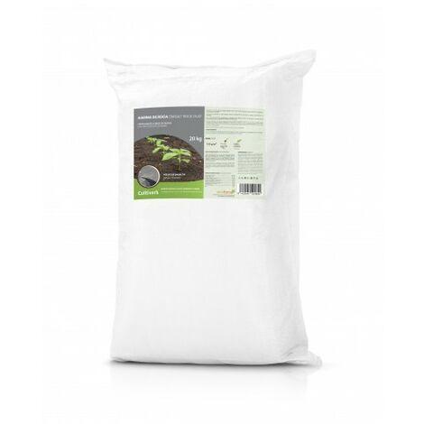 CULTIVERS Force Stone Harina de Roca (Polvo de basalto) 20 Kg. Fertilizante ecologico a Base de silicio Que aporta micoelementos